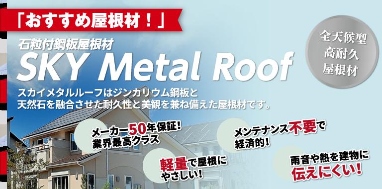石粒付鋼板屋根材 SkyMetalRoof