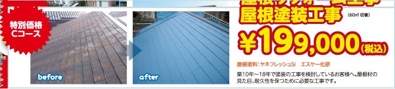 屋根リフォーム工事 ¥199,000(税込)