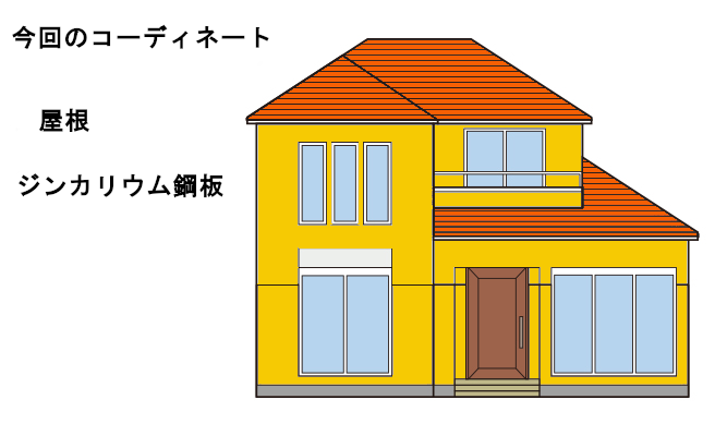 イラスト郵便局 – 屋根重ね葺き工事 【1】中川郵便局