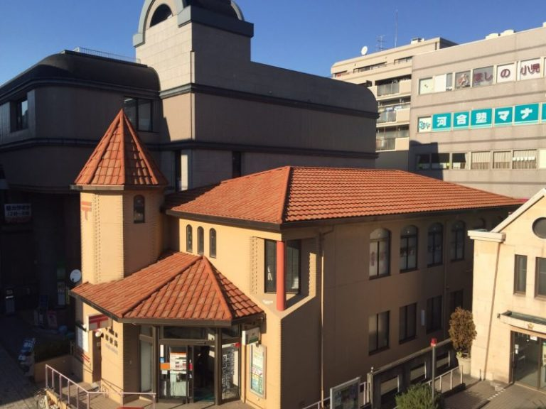 施工後郵便局 – 屋根重ね葺き工事 【1】中川郵便局