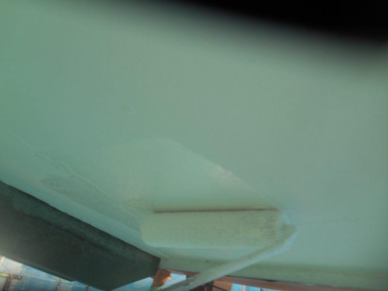 リフォーム施工中屋根重ね葺き工事・付帯塗装工事(雨樋・破風・軒天)【2】愛甲郡T様