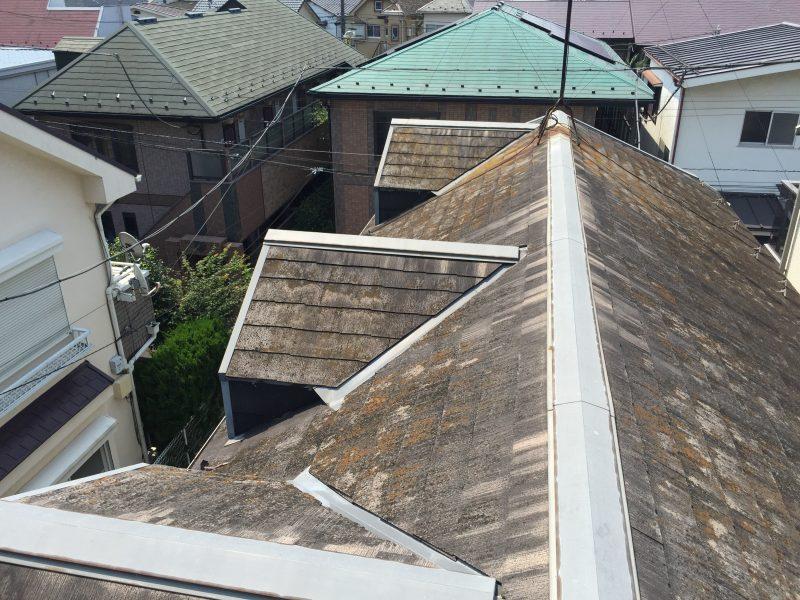 リフォーム施工中屋根重ね葺き工事・外壁サイディング貼り工事 【8】東京都杉並区