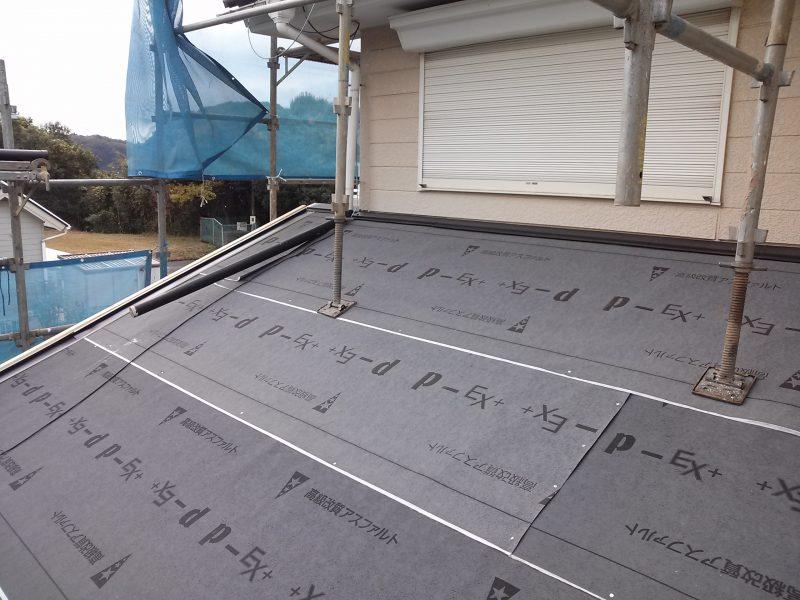 リフォーム施工中屋根重ね葺き工事【12】千葉県香取市T様