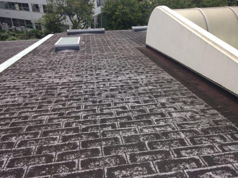 施工前小学校 – 屋根重ね葺き工事【20】東京都昭島市