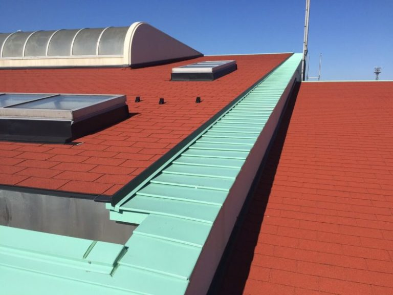 施工後小学校 – 屋根重ね葺き工事【20】東京都昭島市