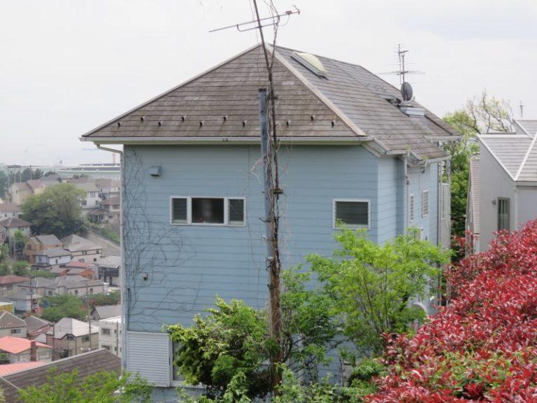 施工前屋根重ね葺き工事・外壁塗装工事【27】横浜市中区Y様