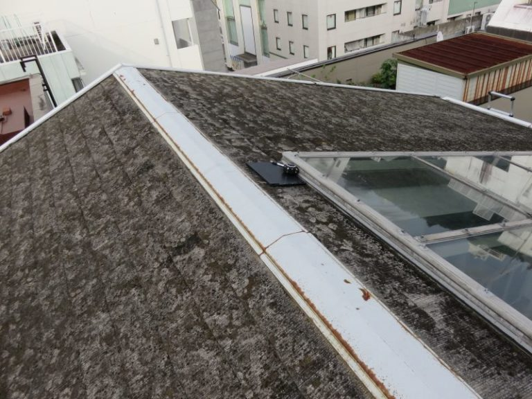 施工前屋根重ね葺き工事・天窓コーキング工事【31】横浜市中区H様