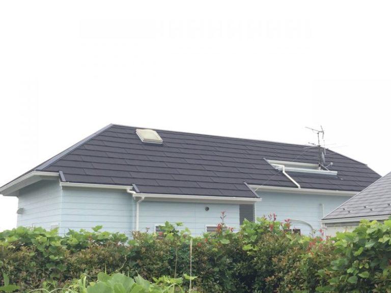 施工後屋根重ね葺き工事・外壁塗装工事【27】横浜市中区Y様