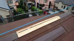 リフォーム施工中屋根重ね葺き工事【29】横浜市青葉区M様
