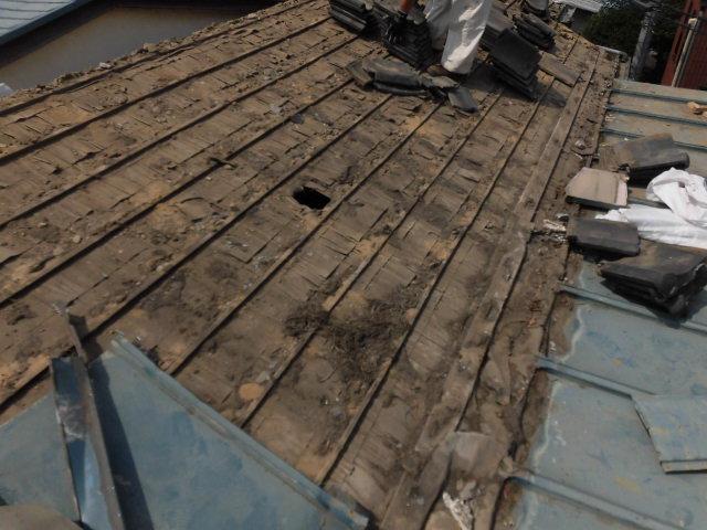 リフォーム施工中瓦屋根葺き替え工事【41】東京都新宿区N様