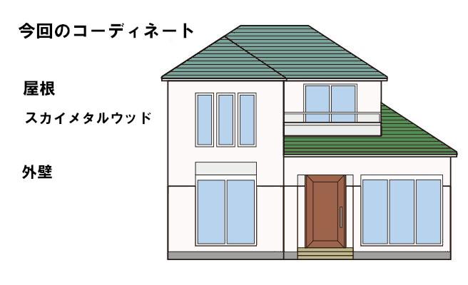 イラスト屋根葺き替え工事【136】横浜市緑区S様邸