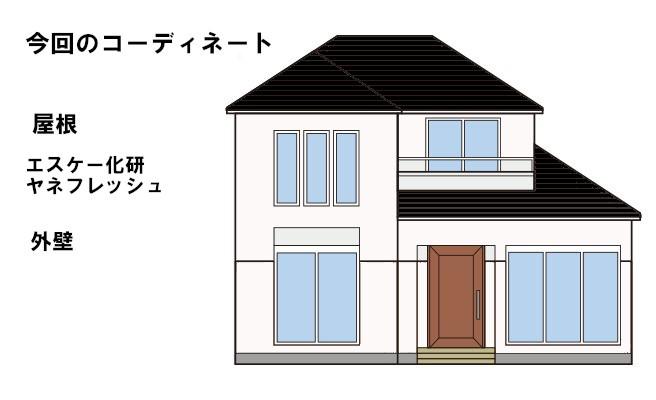 イラスト屋根洗浄・屋根塗装工事【38】横浜市青葉区Y様