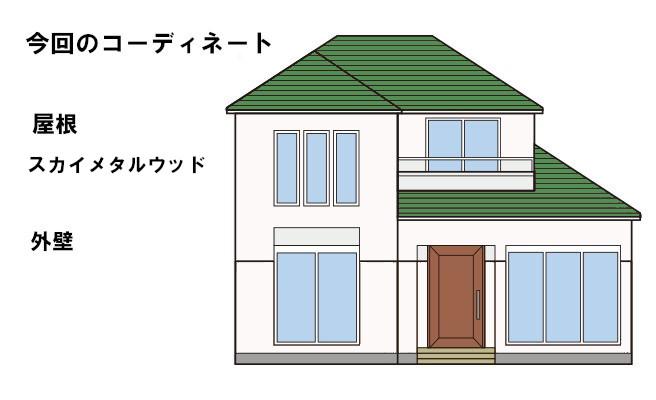 イラスト屋根葺き替え工事・太陽光パネル脱着工事【230】