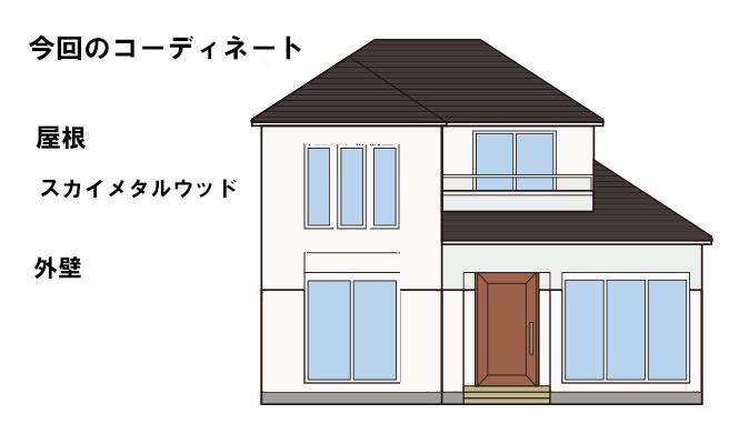 イラスト屋根重ね葺き工事・雨樋工事【33】横浜市神奈川区T様
