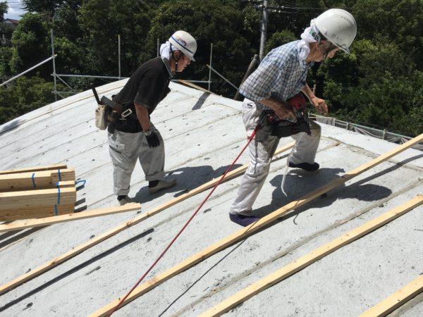 リフォーム施工中お寺の宝物殿 – 新築屋根工事【39】大巌寺
