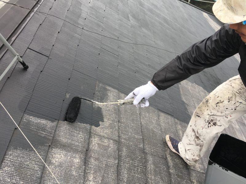 リフォーム施工中屋根洗浄・屋根塗装工事【38】横浜市青葉区Y様