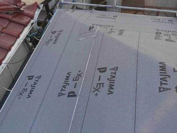 リフォーム施工中瓦屋根葺き替え工事・外壁塗装工事【35】東京都昭島市K様