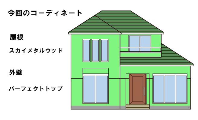 イラスト屋根重ね葺き工事・外壁塗装工事【48】横浜市青葉区H様
