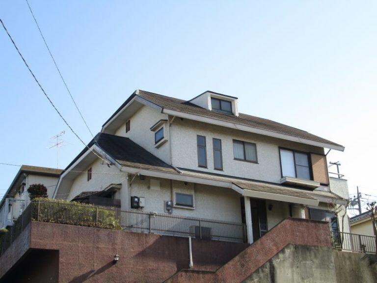 施工前屋根重ね葺き工事・外壁塗装工事【48】横浜市青葉区H様