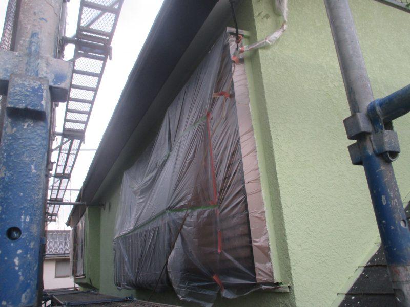 リフォーム施工中屋根重ね葺き工事・外壁塗装工事【48】横浜市青葉区H様