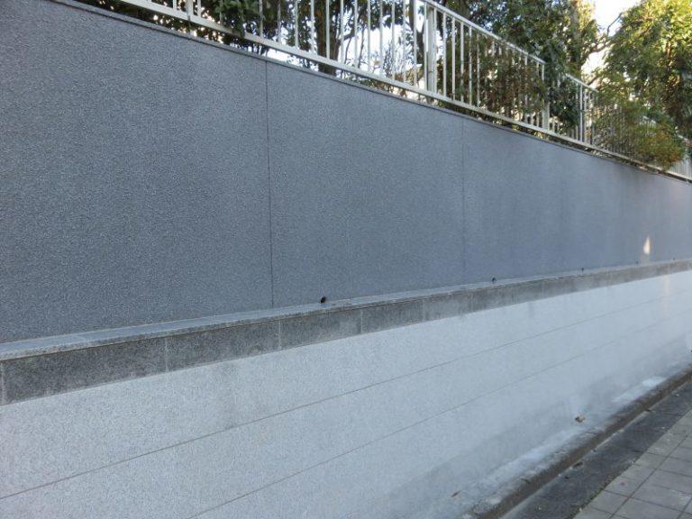 施工後壁の石葺き塗装【49】横浜市青葉区I様