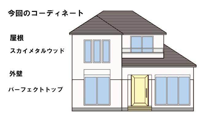 イラスト屋根重ね葺き工事・外壁塗装工事【52】横浜市磯子区I様