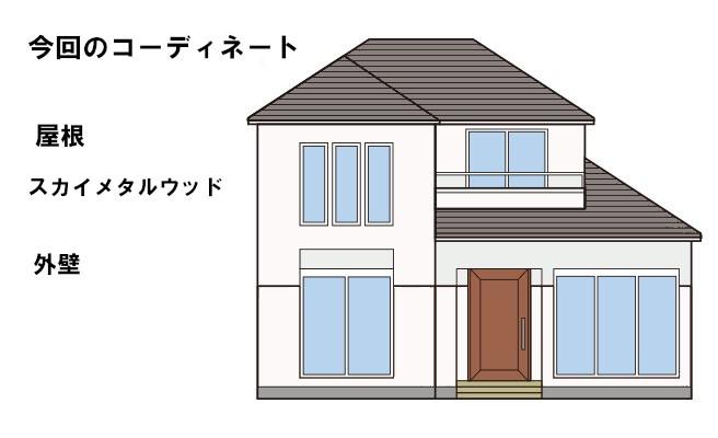 イラスト屋根重ね葺き工事【55】横浜市瀬谷区T様