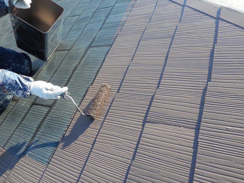 リフォーム施工中屋根塗装工事・外壁塗装工事【54】横浜市緑区T様