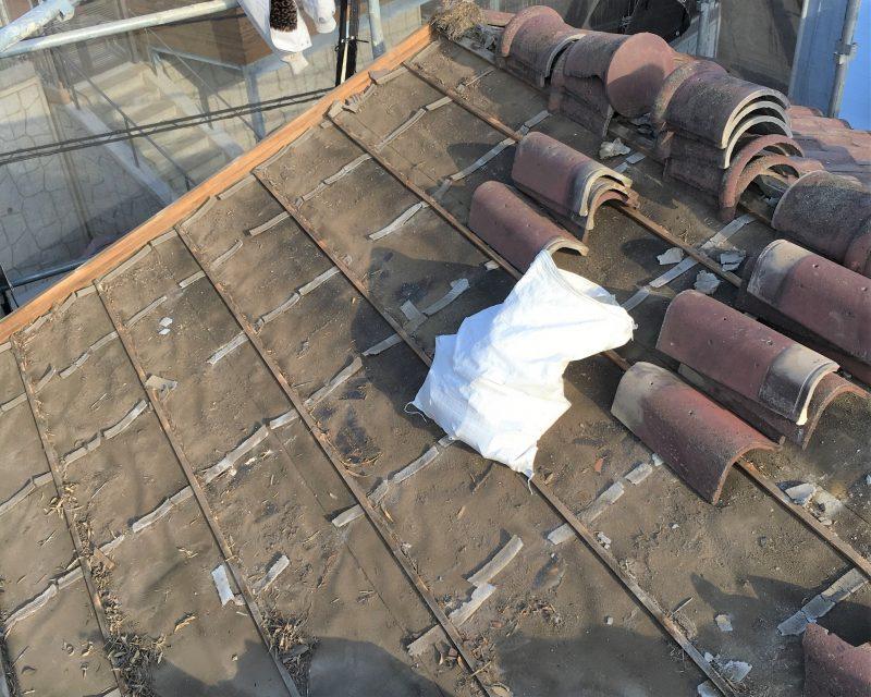 リフォーム施工中屋根葺き替え工事・外壁塗装工事【72】川崎市中原区M様