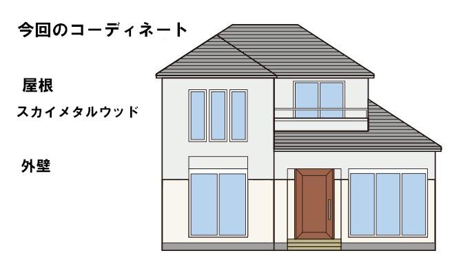 イラスト屋根重ね葺き【156】横浜市都筑区T様