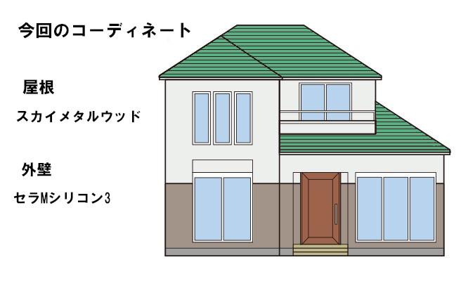 イラスト屋根重ね葺き工事・外壁塗装工事【131】川崎市M様