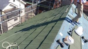 リフォーム施工中屋根重ね葺き工事・外壁塗装工事【131】川崎市M様