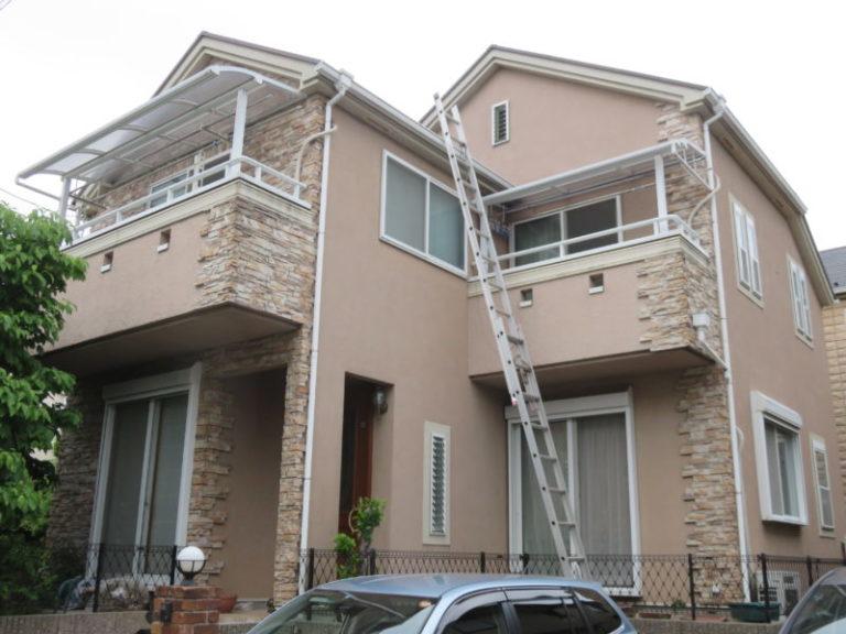 施工前屋根重ね葺き工事 外壁塗装【74】横浜市港北区F様