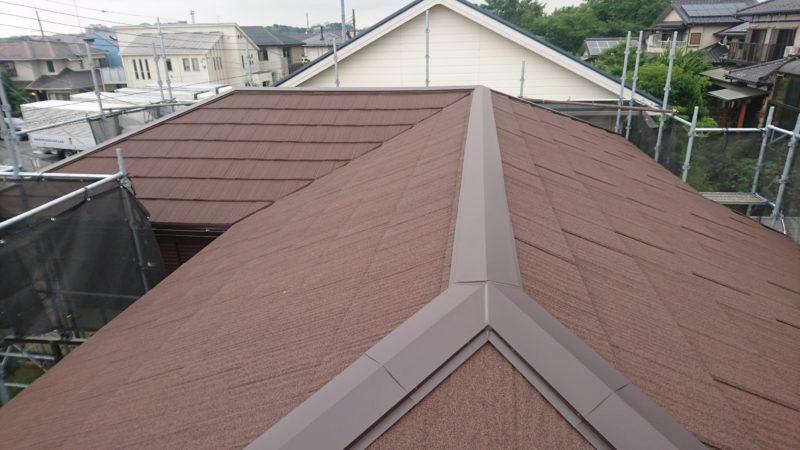 施工後屋根重ね葺き工事・下屋根塗装工事【134】横浜市都筑区S様
