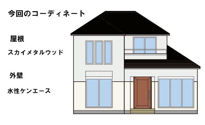 イラスト屋根重ね葺き工事、一部塗装工事、防水工事【84】横浜市緑区O様