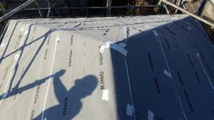 リフォーム施工中屋根葺き替え工事【136】横浜市緑区S様邸