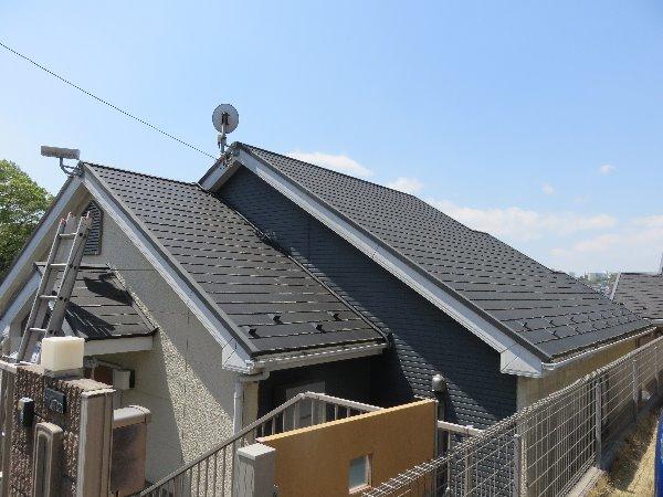 施工後屋根重ね葺き、太陽光パネル脱着、外壁塗装、雨樋塗装、シーリング工事【139】横浜市港南区S様