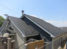 屋根重ね葺き、太陽光パネル脱着、外壁塗装、雨樋塗装、シーリング工事【139】横浜市港南区S様