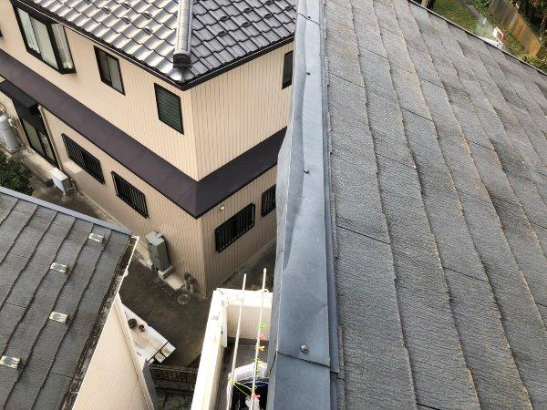 リフォーム施工中屋根塗装工事、棟板金工事【146】横浜市都筑区K様