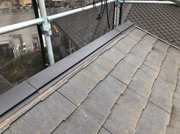 施工前屋根塗装工事、棟板金工事【146】横浜市都筑区K様