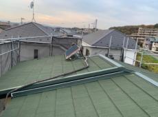 屋根重ね葺き、外壁塗装、雨樋交換工事【105】神奈川県相模原市W様