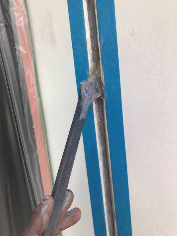 リフォーム施工中外壁塗装・雨戸塗装【101】横浜市港北区K様