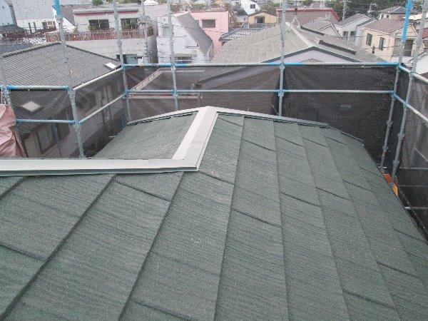 施工後屋根重ね葺き工事・外壁塗装工事【106】東京都品川区M様