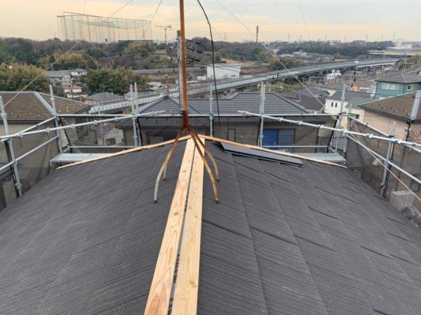 リフォーム施工中屋根重ね葺き、外壁塗装【112】横浜市神奈川区O様