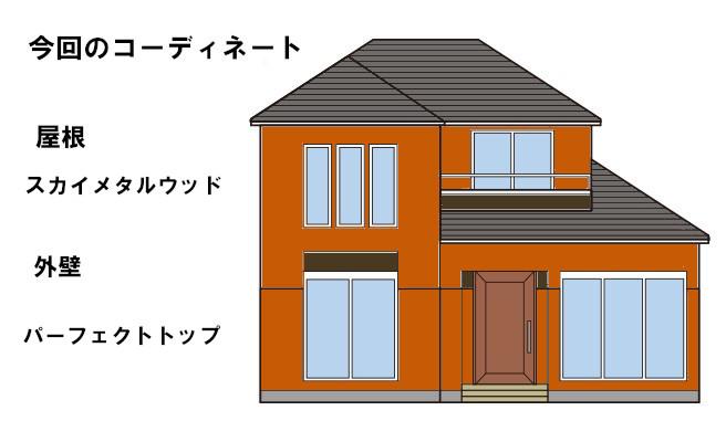 イラスト屋根重ね葺き、外壁塗装【112】横浜市神奈川区O様
