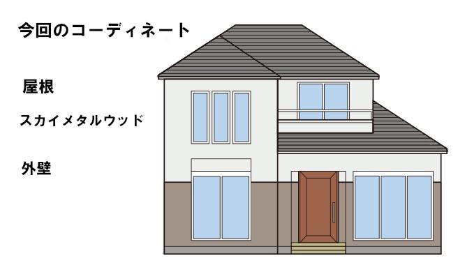 イラスト屋根重ね葺き工事【137】大和市I様邸