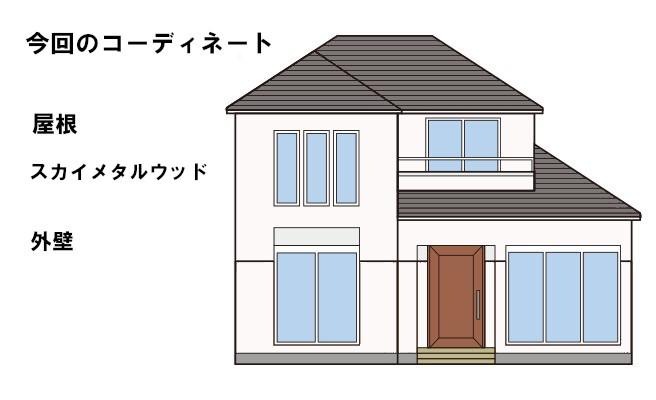 イラスト屋根重ね葺き工事【203】東京都立川市