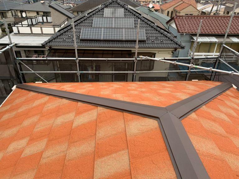 施工後屋根重ね葺き、外壁塗装 【150】横浜市都筑区F様