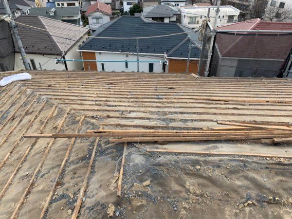 リフォーム施工中屋根葺き替え工事【107】
