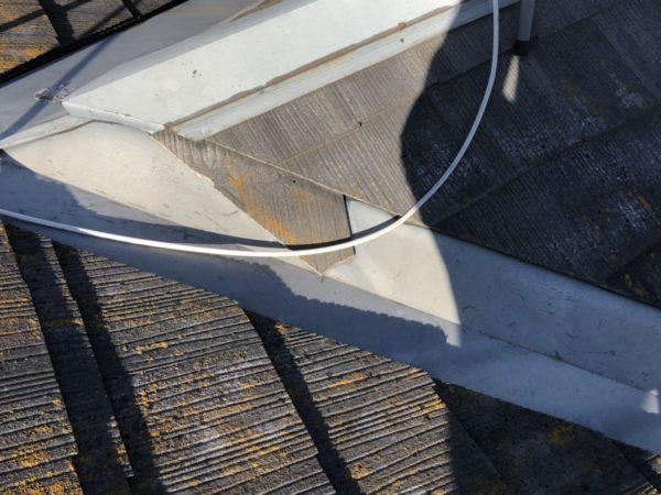 リフォーム施工中屋根重ね葺き、外壁塗装【111】横浜市都筑区K様